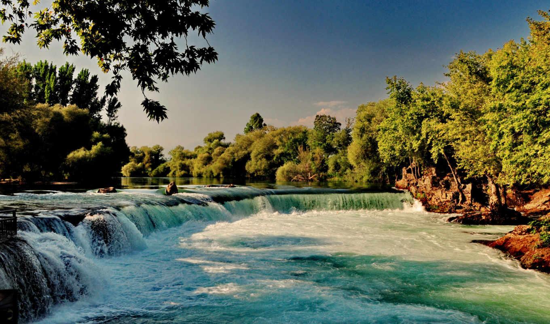 waterfalls, водопады, priroda, природа, rivers, лес, les, reki, широкоформатные,