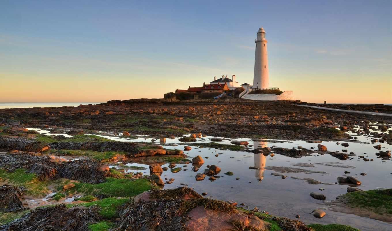 природа, free, widescreen, landscape, lighthouse, телефон, побережье,