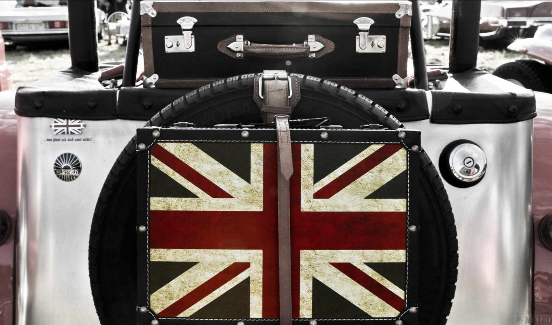 anglais, drapeau, immatriculation, papier, une, serviette, plaque,