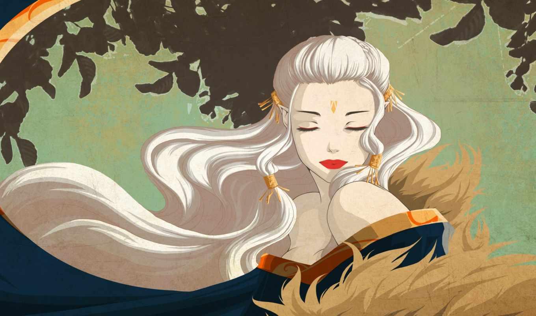 hair, girl, fantasy, elves, girls, blonde, vector, graphics, art,