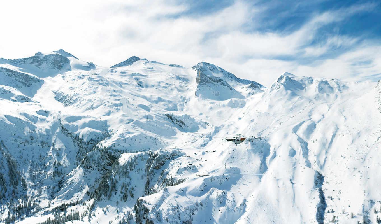 зима, горы, снега, зимние, морозы, холода, альпы, пейзажи,