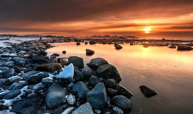 норвегия, vesterålen, vesteralen, rocks, toscana, закат, природа, views,