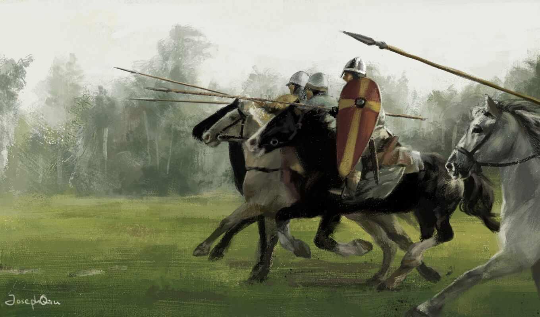 салон, historical, attack, war, fortress, всадники, тематика, слон, битва, осадный