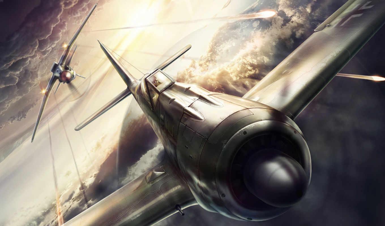 самолет, истребитель, миг, focke, wulf, vs, war,