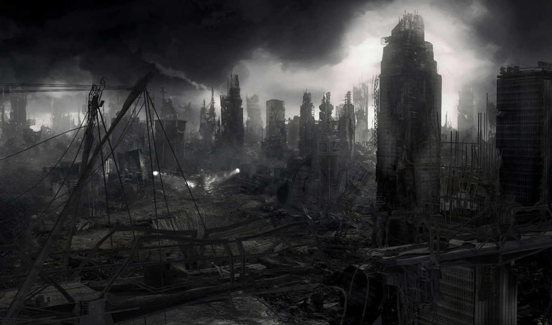апокалипсис, город, разрушения, война, post, уровень, от, красивые, новости, смотрите,