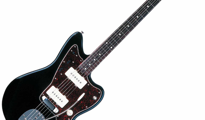 ,струны, черная, гитара,