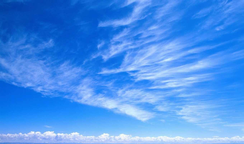 небо, облака, взгляд, горы, white, нежность, blue,