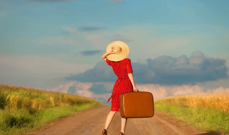 Смешные картинки девушка чемодан, день рождения