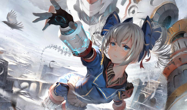 impact, anime, девушка, броня, rd, волосы