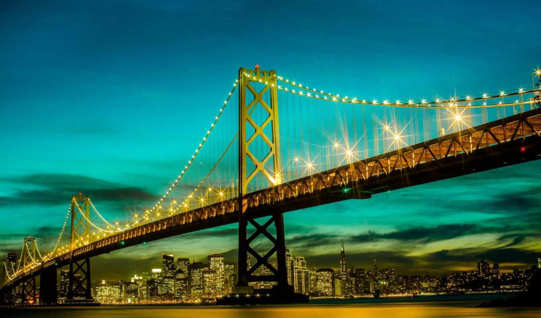 мост, золотистый, gate, картинка