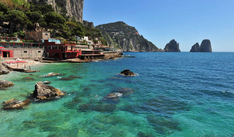 капри, остров, природы, прекрасными, уголками, нашей, планеты, природа, rar, море, сборнике,