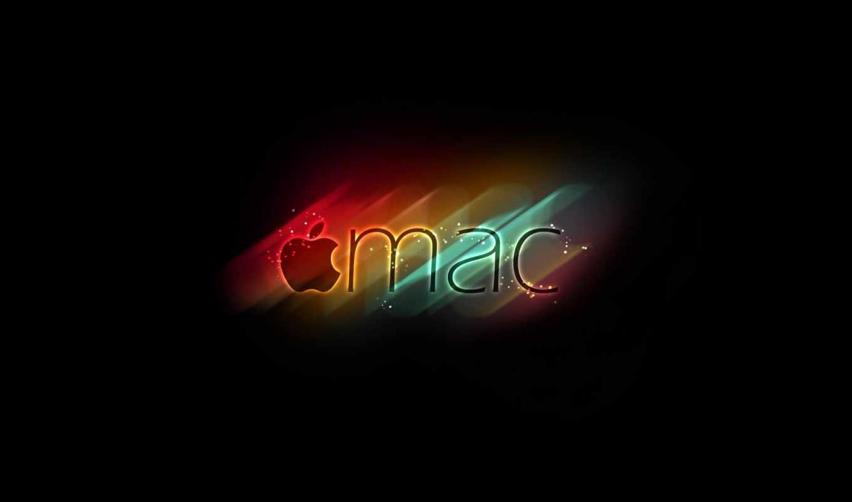 apple, logo, mac, rainbow