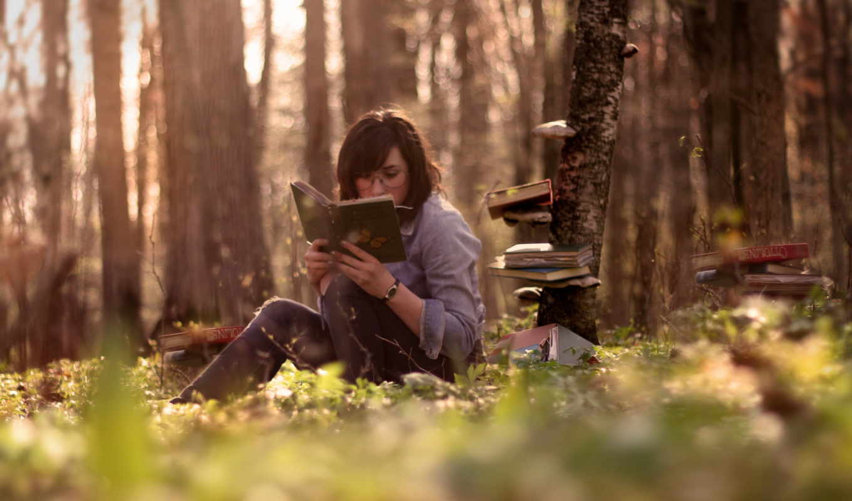 книги, девушки, книга,