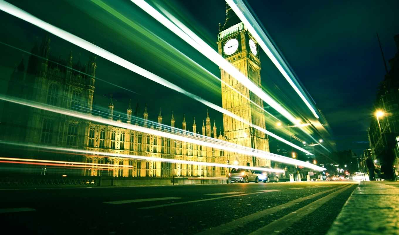 ночь, london, дорога, город, города,