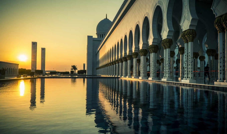 dhabi, abu, grand, mosque, город, даби,