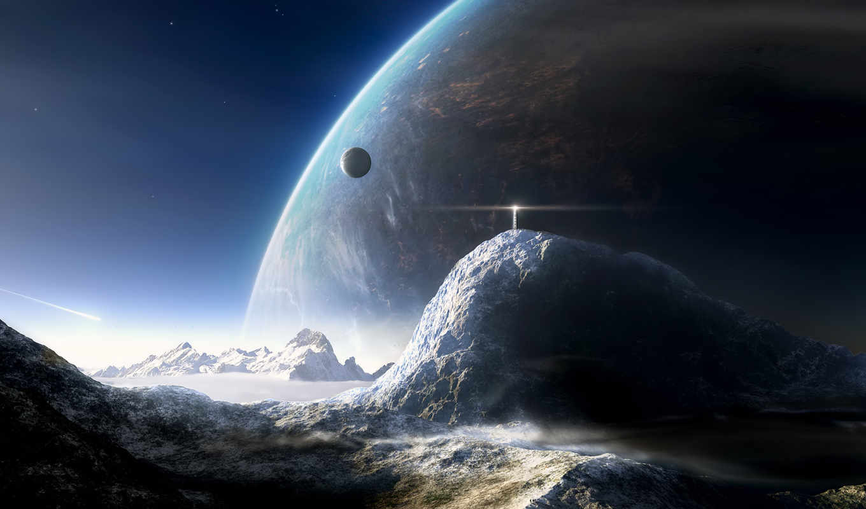 cosmos, планеты, картинка, гладь, звезды,
