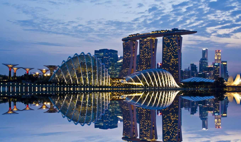 singapore, сэндс, line, столица, water, bay, марина,