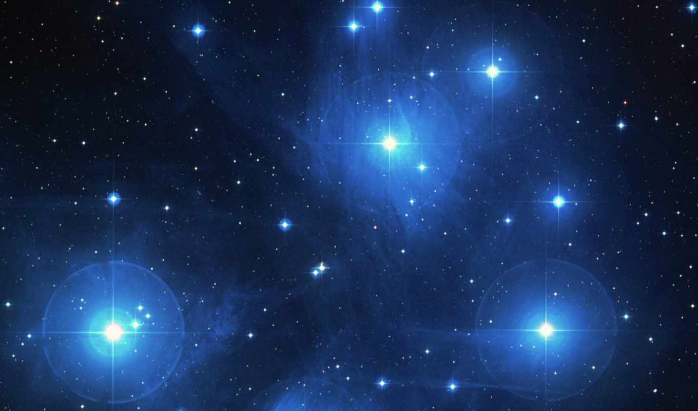 звезды, дымка, космическая, pleiades, space, правой, картинку, кнопкой, outer, monde, raum, шпалери, matariki, fullhd,
