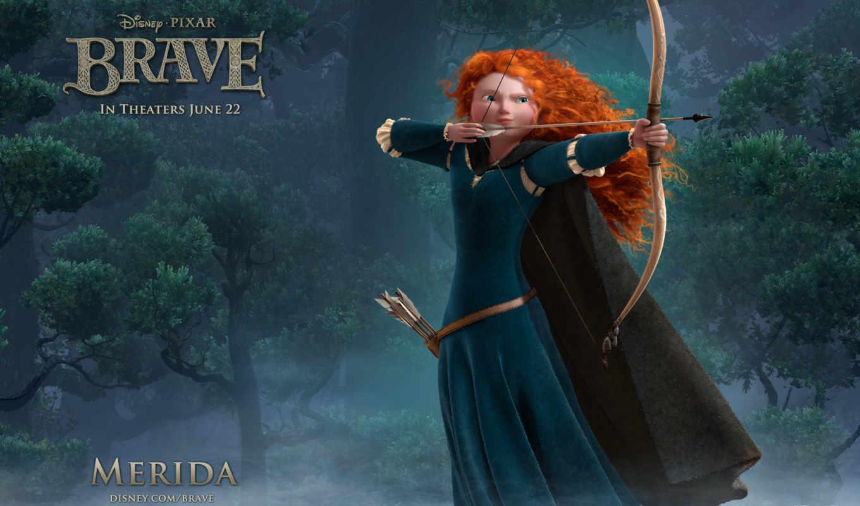 сердцем, храбрая, brave, посвященные, filmu, кинотеатр,