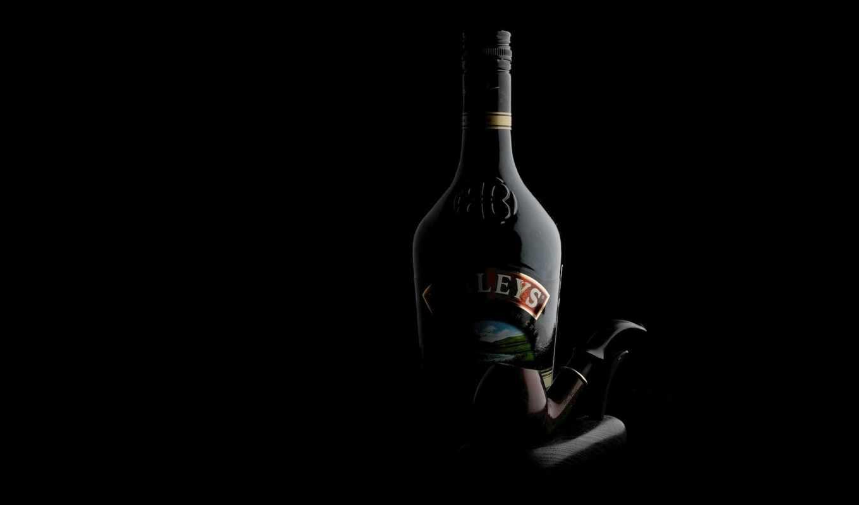 трубка, шик, ликер, картинка, бутылка, рома, черная, картинку, черные, курительная, wallpapers,