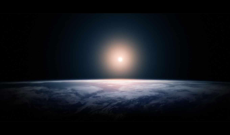 земля, космос, планеты, сияние,