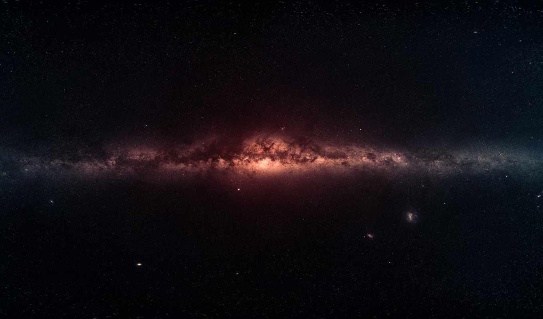 космос, путь, млечный, галактика, панорама, звезды, der, вселенная, stars,