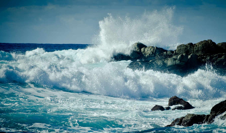 море, ocean, water, скалы, пейзажи -, волны, моря,