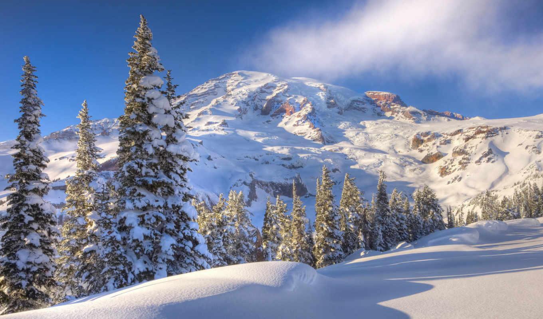 full, картинка, winter, небо, pack,