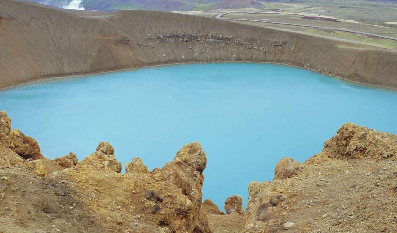crater, озеро, krafla, iceland, vitus, близко, роберт, усилитель, фото, качество, america