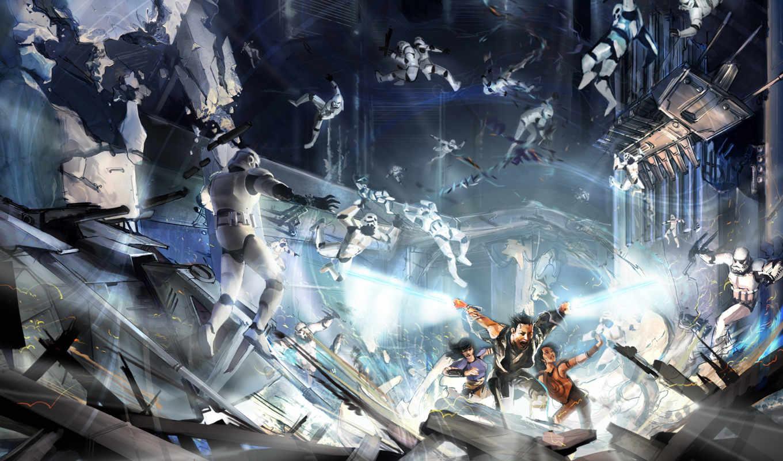wars, star, unleashed, force, desktop, game, игры,