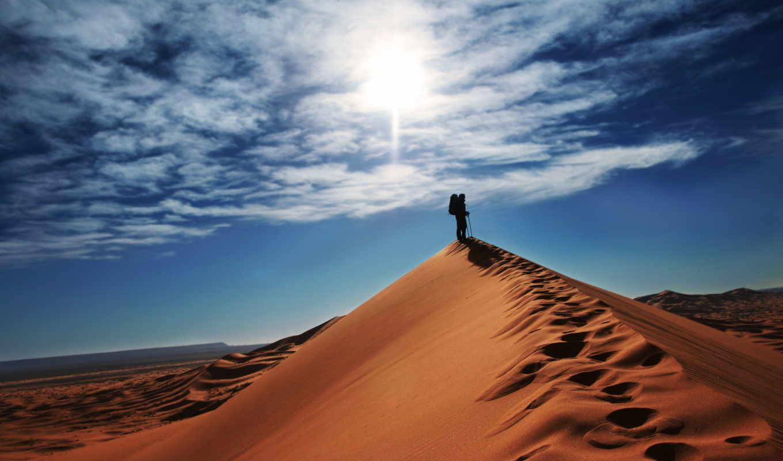 desert, пустыне, самомотивации, zdjęcia, fb, tle, путник, blue, облака, дюны, песок, бесплатные, первый, desktop, самый, важный,