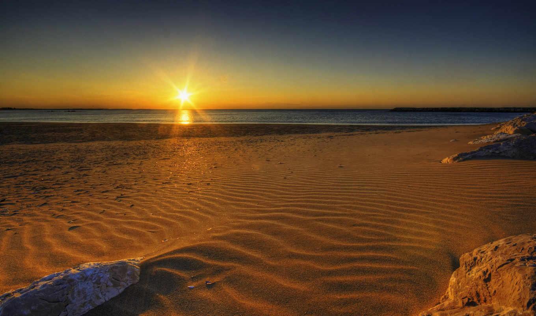 beach, sunrise, sunset, wonderful, have, desktop,