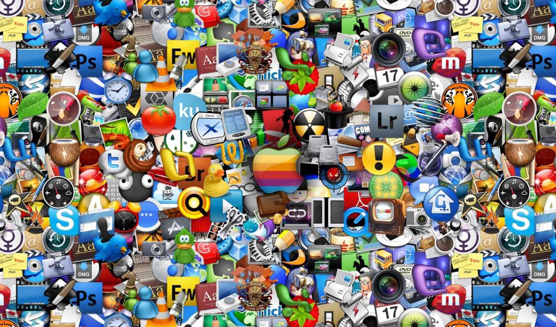 apple, apps, computer, иконки, много, компьютерные, логотипы, this, mac, лого, значки,