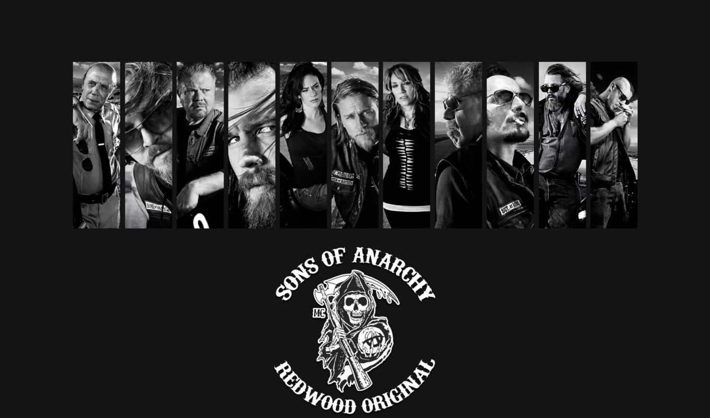 sons, anarchy, hunnam, charlie, серия, мотоцикл, анархии, biker, сыны,