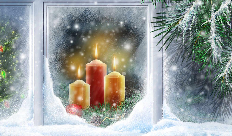 christmas, new, свечи, year, widescreen, вектор, картинку, снег, desktop, птицы, ночь, новогодняя, елка, free, новогодние, топ, пользователей,