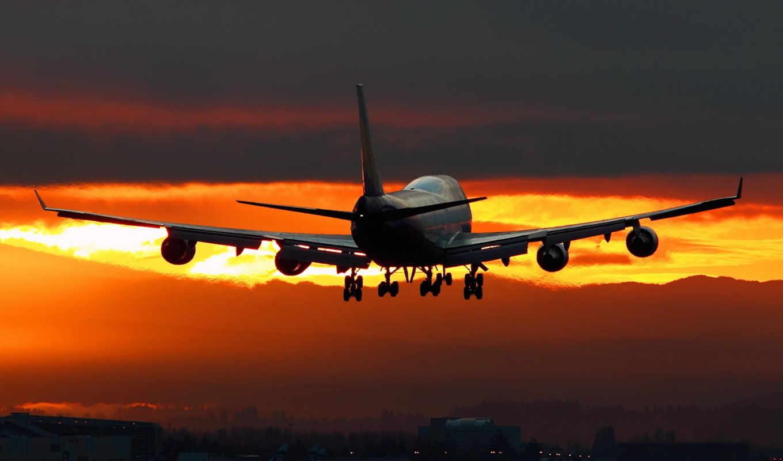 airfield, night, plane, desktop, kunis, mila,