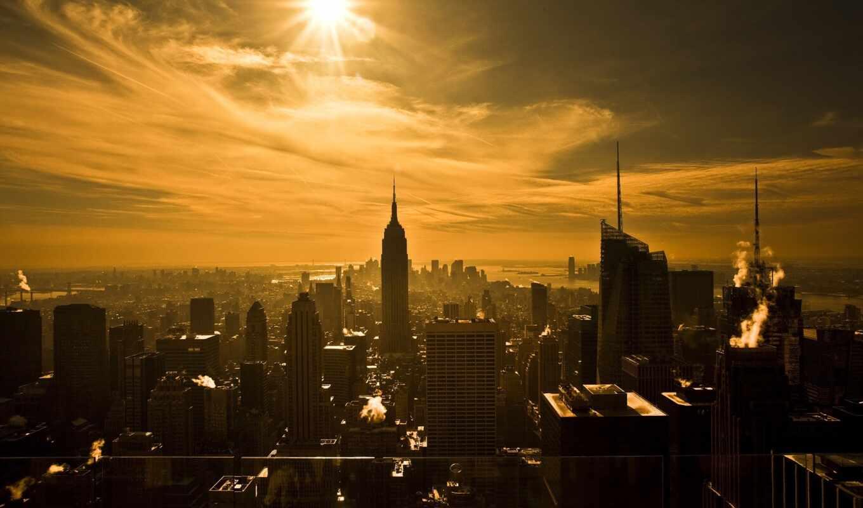 new, york, город, нью, state, империя