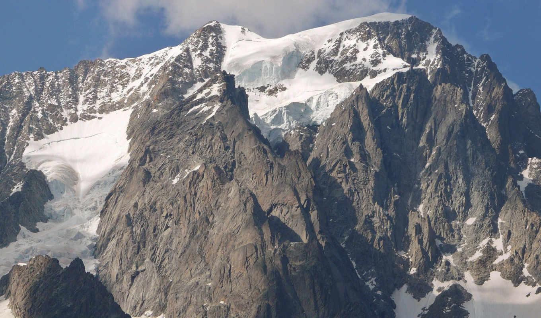 горы, природа, cliff, снег, небо, гора, landscape, облака, winter, скалы,