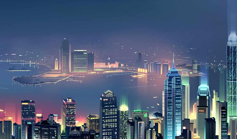 город, minimalist, skyline, building, фон, digital, artist, art