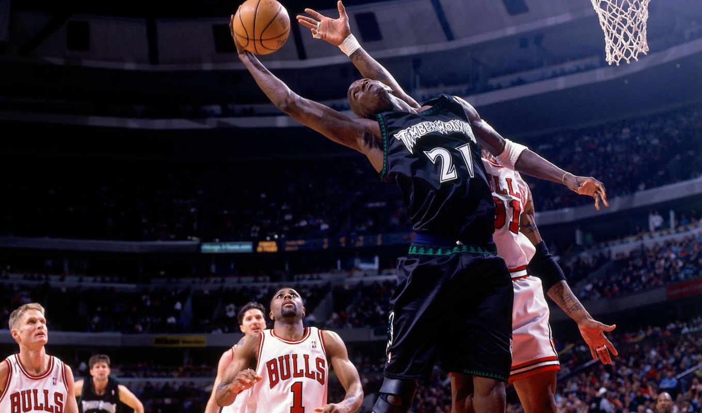 баскетбол, прыжок, minnesota, timberwolves, игра, kevin, garnett, спорт, баскетболист, картинка, bulls, chicago,