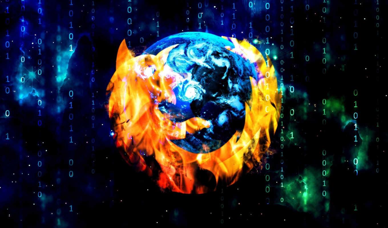 mozilla, firefox, матрица, браузер, файерфокс, цифры,