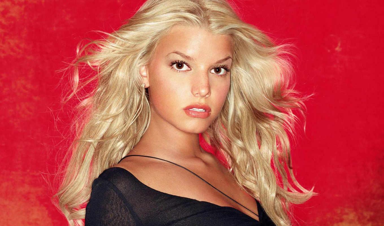 jessica, simpson, девушки, знаменитости, блондинки, очаровательные, портрет, порно, sexy, джесика, оцените, красное, красном, чёрное, фоне,