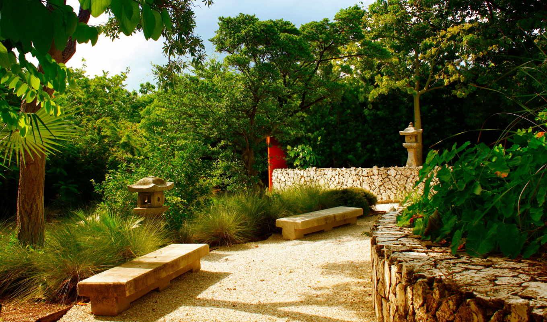 priroda, сады, красивая, грустный, франция, garden, пруд, kana, альберта, японский,