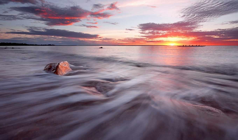 море, закат, лодка, you, desktop, landscape,