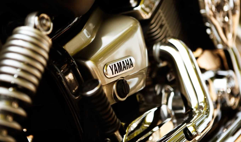 yamaha, мотоцикл, хром, детали, нравится, motor, макро,