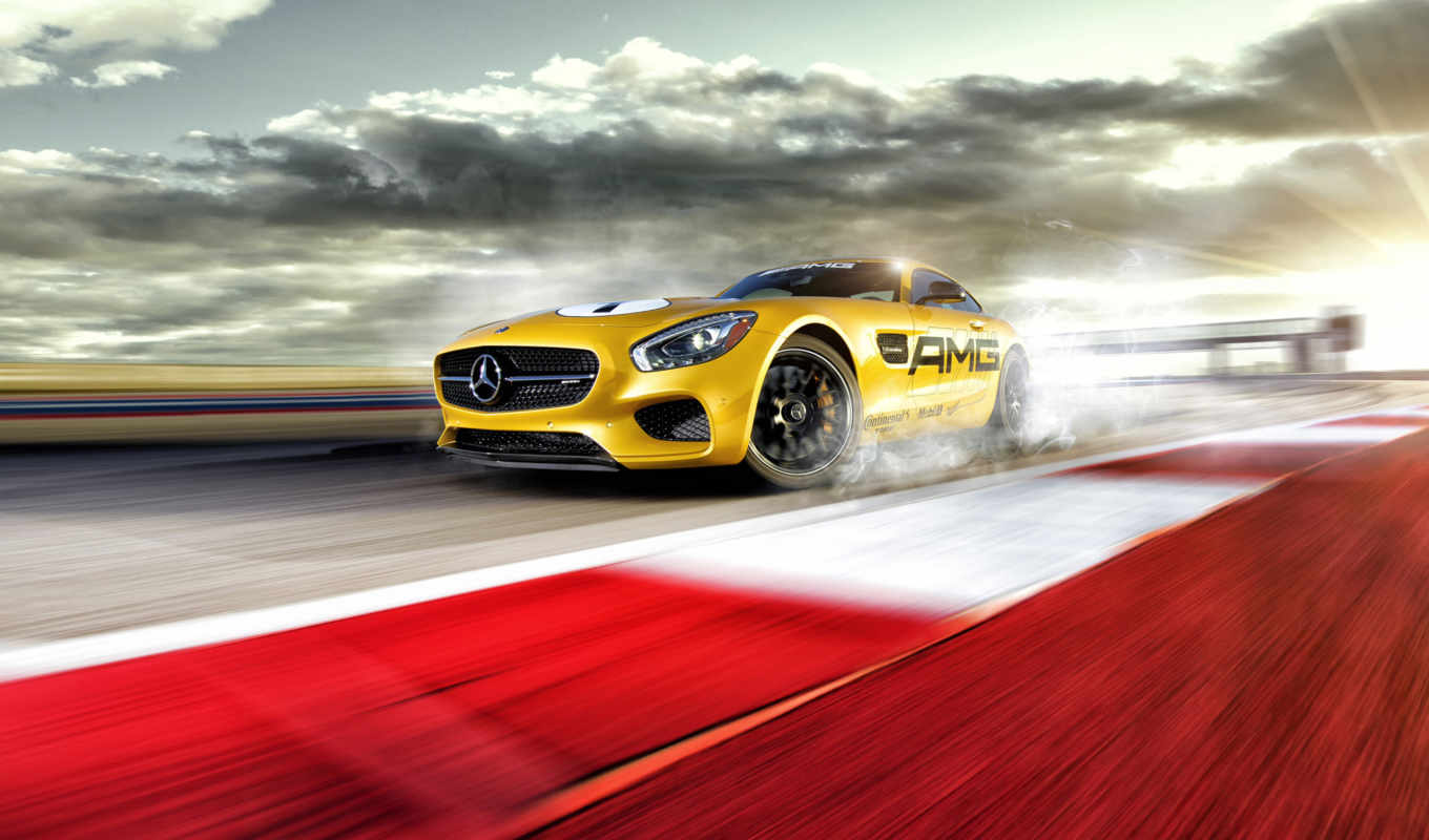 mercedes, amg, benz, car, yellow,
