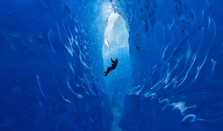 , альпинист, лед, стены,