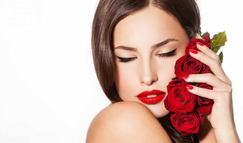 девушка, красными, розами, часть, розы, дневник, самое, интересное, блогах, записи, росинка,