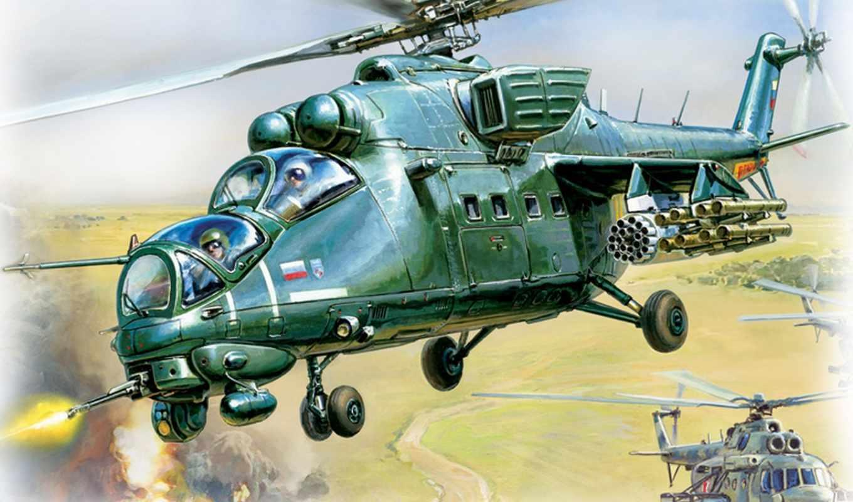 ми, вертолет, модель, сборная, звезда,