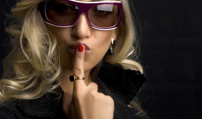 поцелуй, воздушный, очки, палец, блондинка, статусную, соблазнить,
